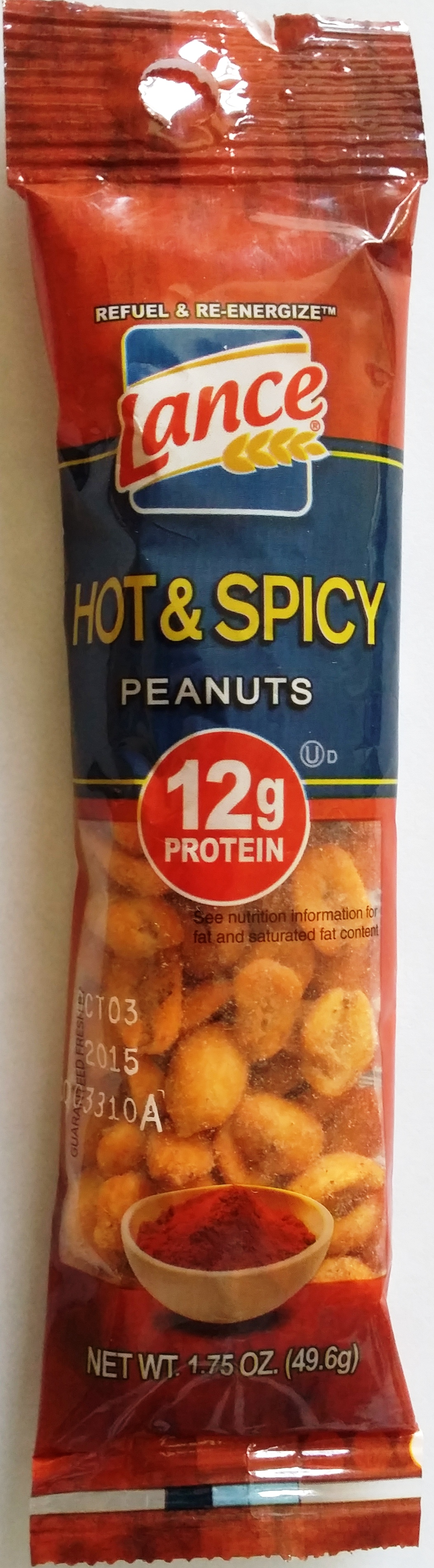 Lance Hot and Spicy Peanuts